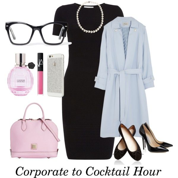 Corporate to Cocktail Hour by samanthasultana on Polyvore featuring polyvore fashion style HUGO Temperley London Dooney & Bourke Belpearl Spitfire NARS Cosmetics Viktor & Rolf #samantha_sultana_official