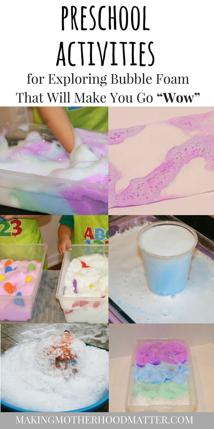 Learn how these five preschool activities for exploring bubble foam can help you easily incorporate playful learning and sensory fun in your home or classroom. Includes literacy, art, science, sensory and more! Visit www.makingmotherhoodmatter.com to see all five kids activities. #preschoollearning #preschoollife #sensoryplay #sensoryactivities #foamsensations #kidsactivities #toddlerlife Via @AmyatMMM