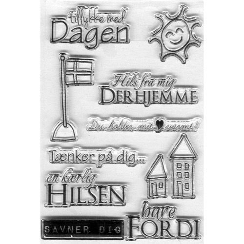 Clearstamp Set - Gitte\'s Eget Design / Operation Skriv Hjem Pris 125,- i Hobbyboden, Varenr.: 50-56910