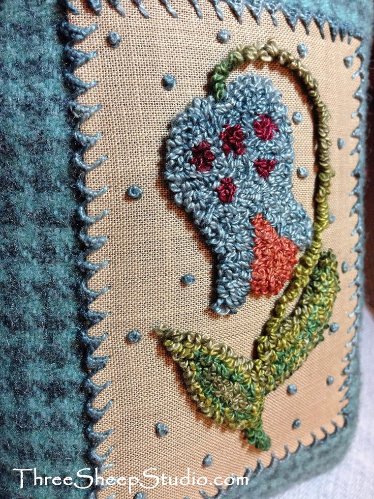 1227 Best Embroidery Punch Needle Images On Pinterest