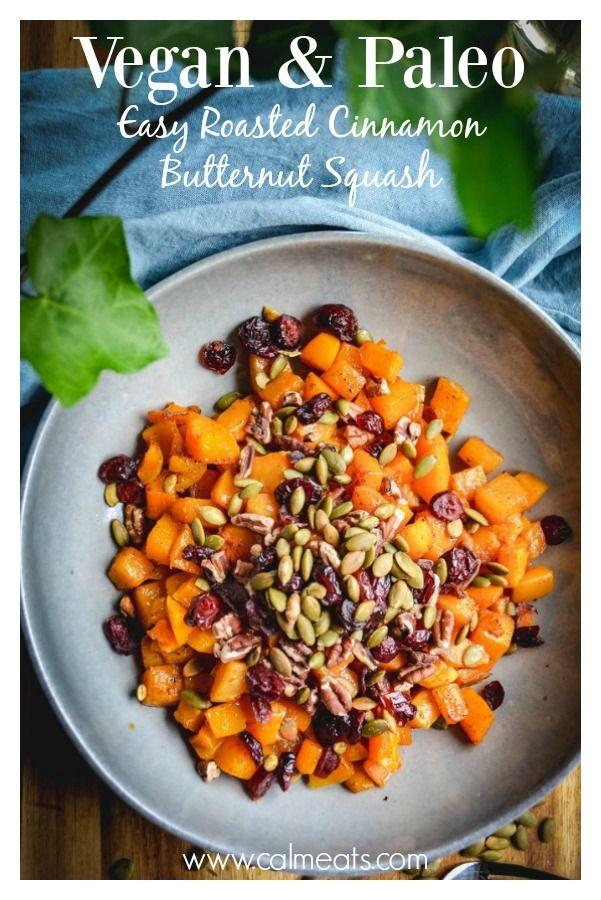 Roasted Cinnamon Butternut Squash Recipe Calm Eats Blog