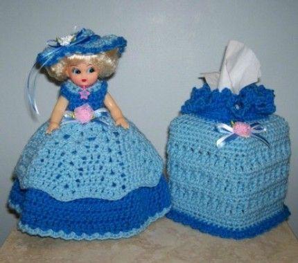 Crochet kleenex free crochet toilet tissue roll covers for Decoracion hogar a crochet