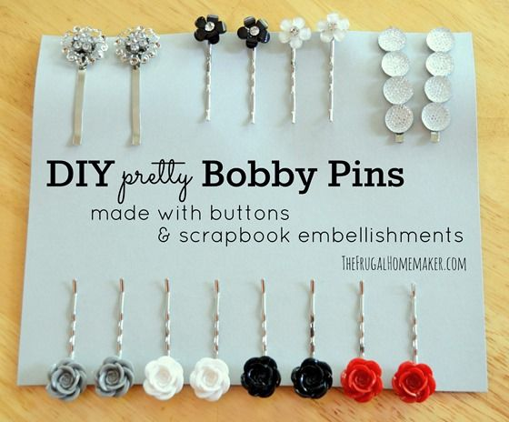 DIY pretty Bobby Pins...great project for kennedy!  :)