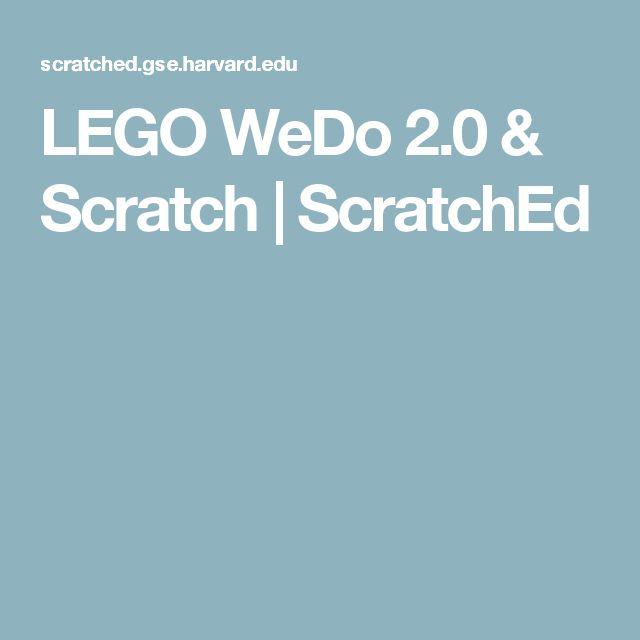 LEGO WeDo 2.0 & Scratch | ScratchEd