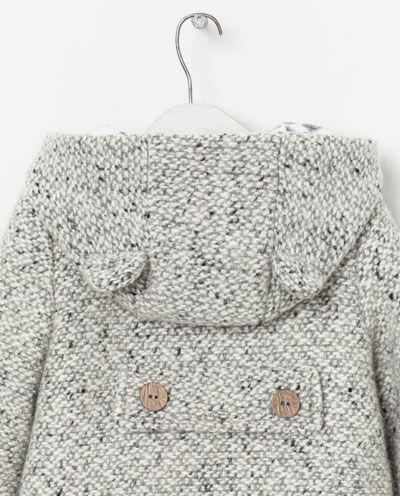 HOODED COAT WITH EARS from Zara