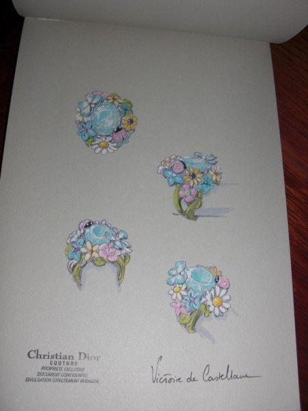 """Sketch of """"Diorette"""" ring by Victoire de Castellane for Dior Jewellry"""
