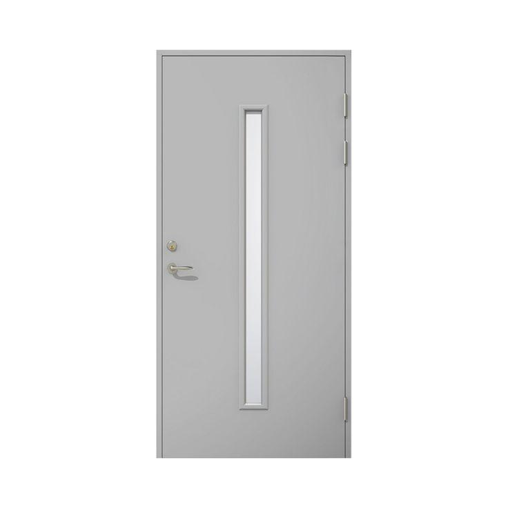 Ytterdörr Dooria Premium Milano 1010 Klarglas Vit - Enkeldörrar