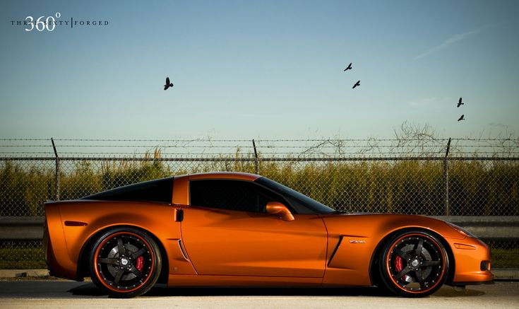 ... Atomic Orange Corvette Z06 on 360 Forged CF Straight 5 | by 360 Forged