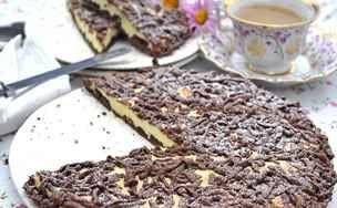 Strouhaný čokoládový koláč