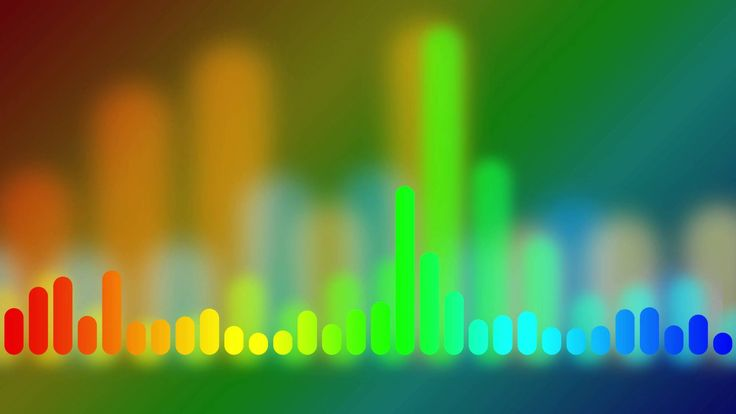 Rainbow Music Equalizer - HD animated background #106