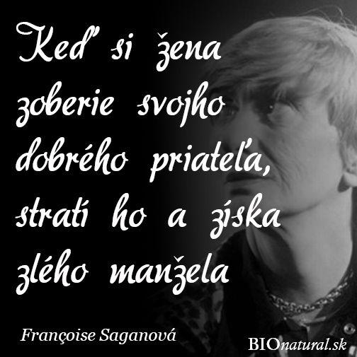 Citát od Francoise Saganovej