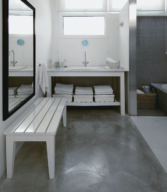 Concrete Bathroom Floor Ideas On Small Bathroom Concrete