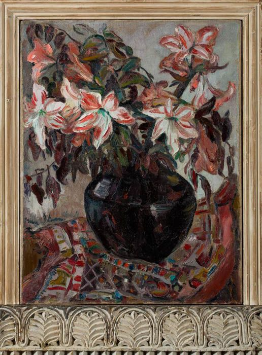 Irma Stern: Lillies in an African Pot. Captured by Clive Hassall Photography, producers of fine art capture and advanced, colour management in South Africa. www.clivehassall.com