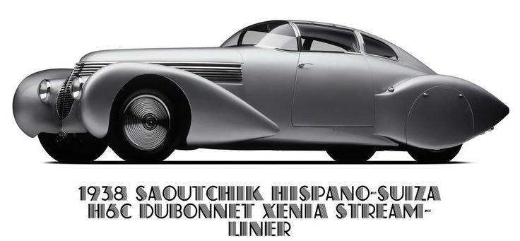 1938 Saoutchik Hispano-Suiza H6C Dubonnet Xena Stream-Liner