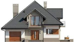 Znalezione obrazy dla zapytania elewacje domów parterowych