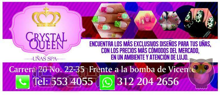 CRYSTAL QUEEN. Encuentra los más exclusivos diseños para tus uñas, con los precios más cómodos del mercado, en un ambiente y atención de lujo.