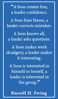 Are you bossing or leading your council or committee?