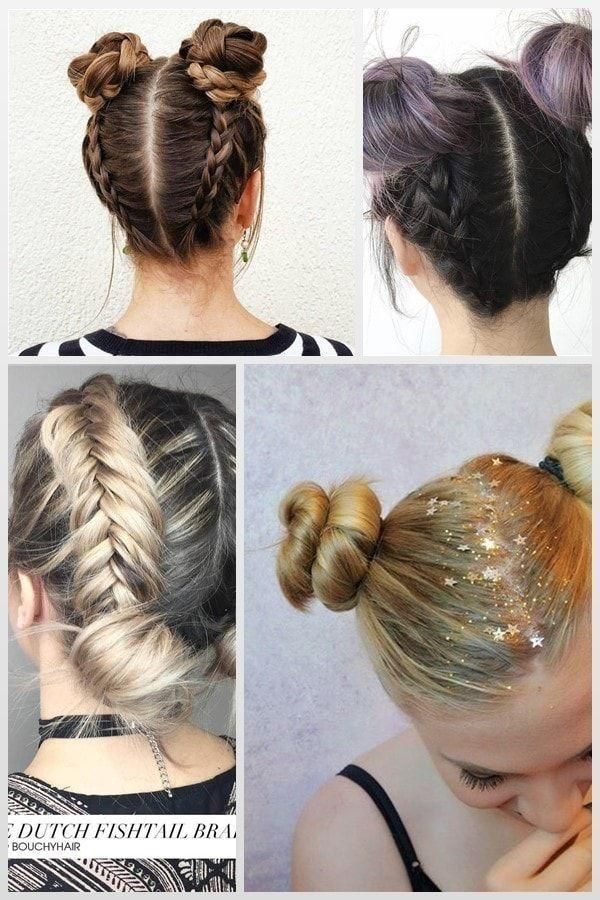 Braided Bun Double Hairstyles School Give You A Staid Simple Bun A Much Ne Coiffures Pour L Ecole Coiffure Tresse Coiffure