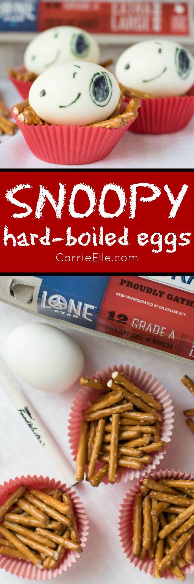 Snoopy Hard-Boiled Eggs