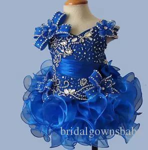 Lovely Short Mini Blue Organza Sleeveless Ball Gowns Girl'S Pageant Dresses Birthday Party For Kids Big Events Pageant Dresses Girls Pageant Store From Bridalgownsbaby, $50.25| Dhgate.Com