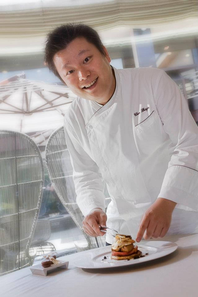 Chef Shiqin Chen from La Rei, Il Boscareto Resort & SPA, Piedmont (Italy).  Chen is an expert in Piedmontese cuisine, but gives it a new twist with his own unique style. #WGF http://ow.ly/cCoeG