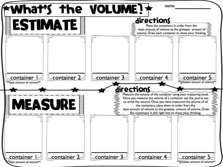 Measuring Capacity Worksheets