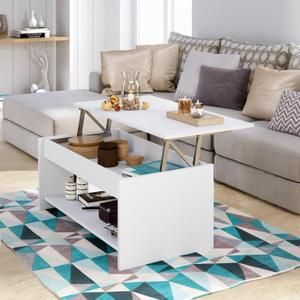 HAPPY Table basse transformable style contemporain blanc mat - L 100 x l 50 cm - Achat / Vente table basse HAPPY Table basse - Cdiscount