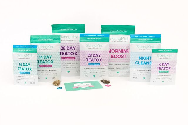 SkinnyMint Teatox on Packaging of the World - Creative Package Design Gallery