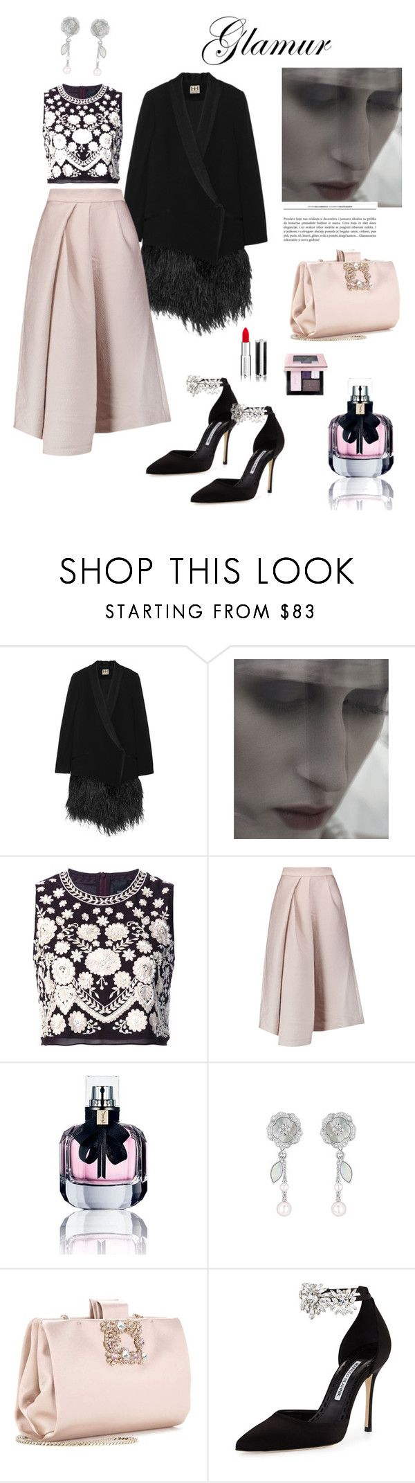"""""""I Dream of my dream come true."""" by chrismay-468 on Polyvore featuring Haute Hippie, Needle & Thread, TIBI, Yves Saint Laurent, Chanel, Roger Vivier, Manolo Blahnik and Givenchy"""