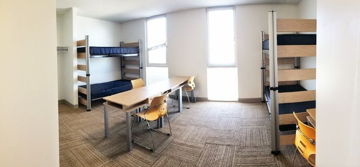 This isn't decorated, but this is what the quad room looks like when you receive it!