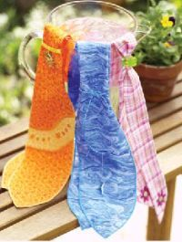 diy -- sew a cooling neck scarf with water crystals