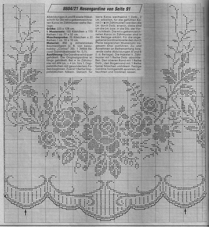 World crochet: Curtain 1