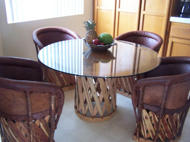 Cushioned Chair And Table Set