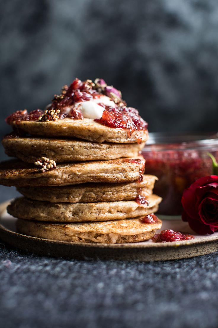 Coconut Quinoa Pancakes with Citrus Whipped Ricotta and Rosy Blood Orange Jam | halfbakedharvest.com @hbharvest