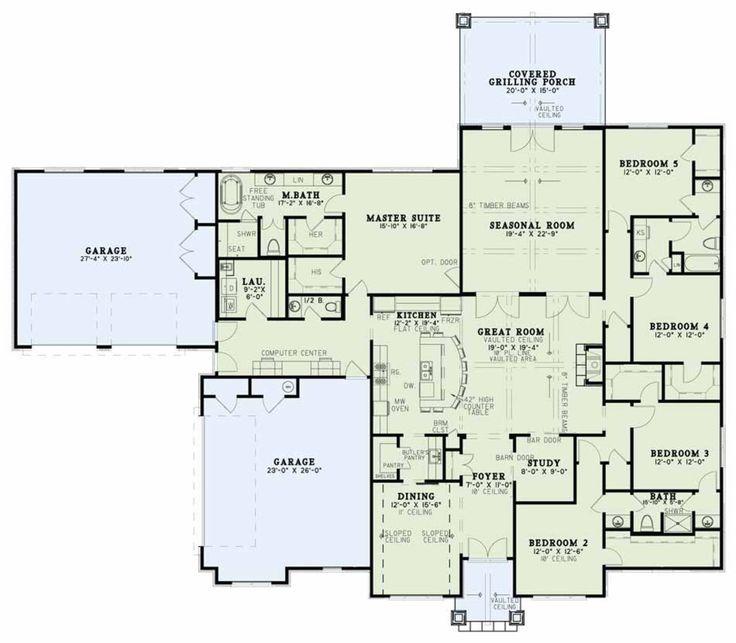 Craftsman Style House Plan   5 Beds 3.50 Baths 3580 Sq/Ft Plan #17