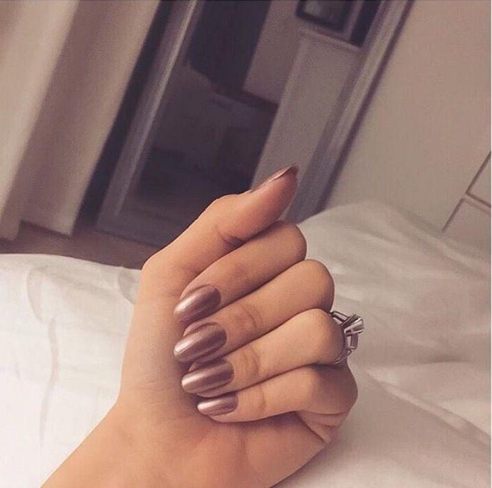 Chrome Rose Gold Purple Pink Glam Chic Lux Nails Nail Ideas Polish Art Long Nails Design Fashion