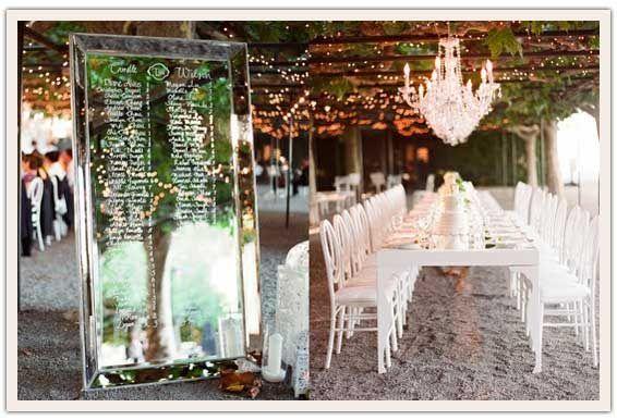mirror wedding table plans