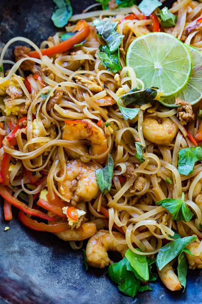 One Pan Simple Asian Shrimp Noodles Recipe Shrimp Noodles Asian Shrimp Asian Recipes