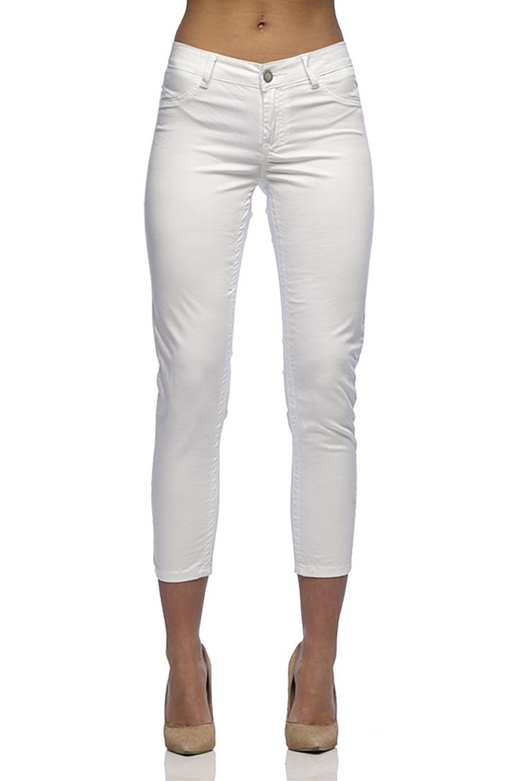 New London - Thames White Capri Jeans