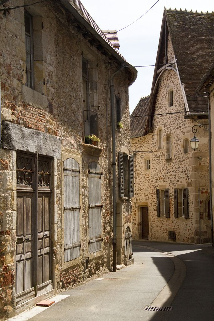 Hérisson, Auvergne, France. Auvergne is a dry and warm department in France with many very pittoresque, pretty little villages...