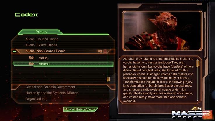 Mass Effect 2 Codex