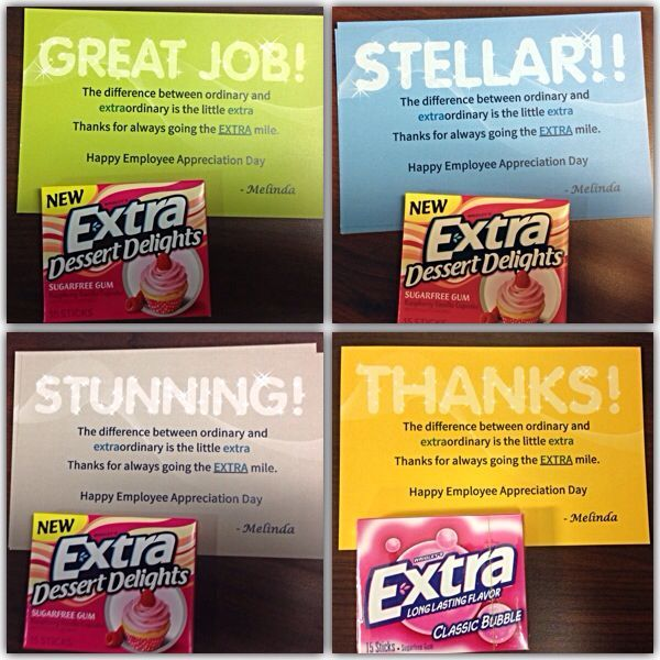 the difference between ordinary and extraordinary is a little extra thanks for always going the extra mile happy employee appreciation day