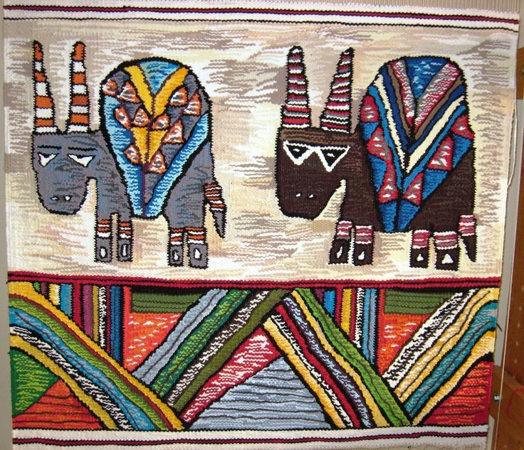 Fresh of the loom woven by Funiswa - The Eland is one of Africa's favourite mystical totem animals.