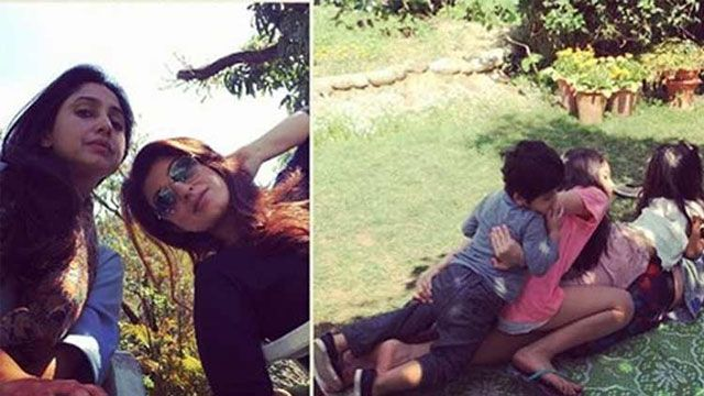 Sisters #TwinkleKhanna & #RinkeKhanna are chilling in Dehradun with their kids!