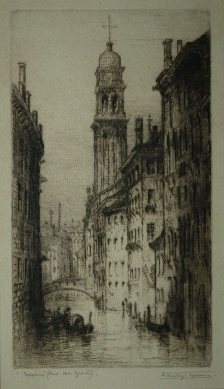 James Alphege Brewer etching, Venice | Works on Paper ...