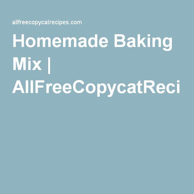 Homemade Baking Mix | AllFreeCopycatRecipes.com