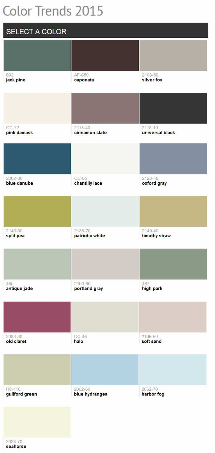 78 Best Images About Benjamin Moore Color Trends 2015 On