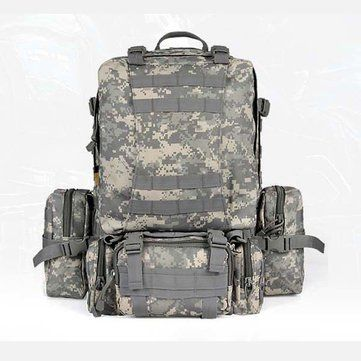 Camo Military Rucksack Outdoor Tactical Backpack Travel Camping Bags - US$52.31