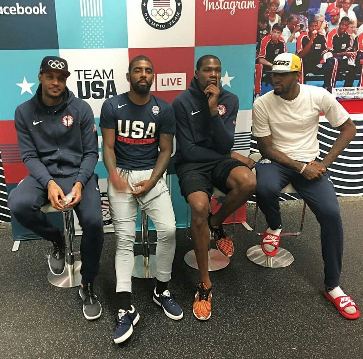 Carmelo Anthony, Kyrie Irving, Kevin Durant, \u0026 Paul George.