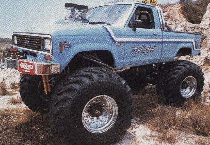 "real Ford Trucks in ""Monster Form"""